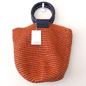 & Other Stories Woven Straw Tote Bag